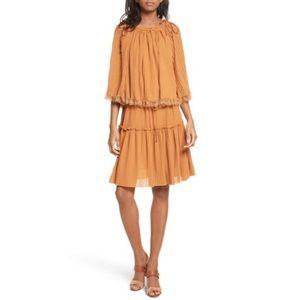 🏹🆕 See by Chloé ღ Pleated Popover Dress ღBrick